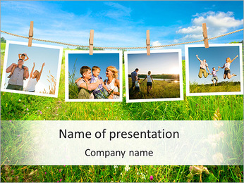 Memorable Family Photos PowerPoint Template
