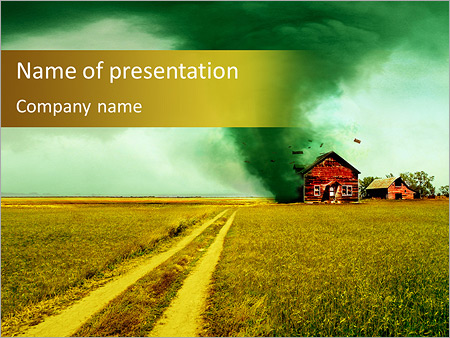 destructive tornado powerpoint template & backgrounds id, Modern powerpoint