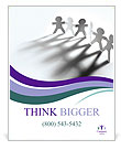 Team Of Paper People Poster Template