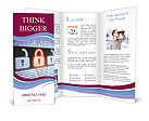 Closed Red Lock Brochure Templates