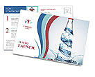 Bottled Water Postcard Template