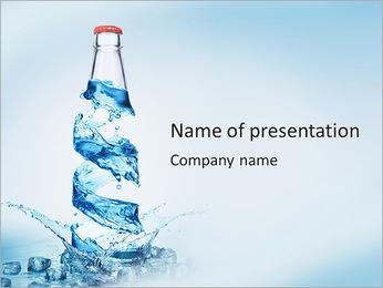 Bottled Water PowerPoint Template - Slide 1
