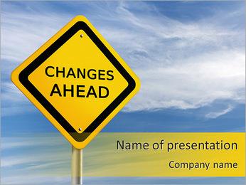 Wijzigingen Ahead Sjablonen PowerPoint presentatie