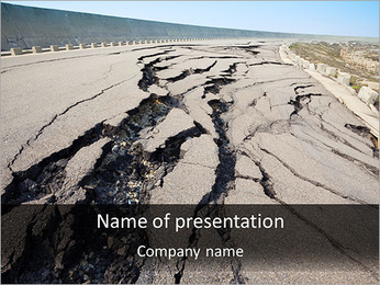 Damaged Road PowerPoint Template