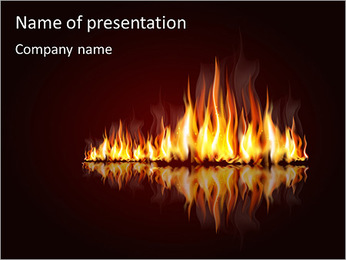 Fire Exposition PowerPoint Template