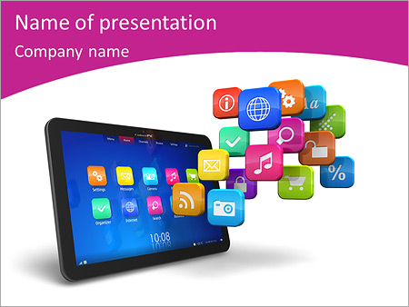 Ipad Gudjets Powerpoint Template Backgrounds Google Slides Id