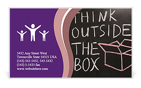 Think Outside The Box Business Card Templates