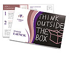 Think Outside The Box Postcard Template
