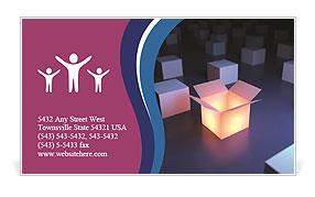 Open Box Business Card Template