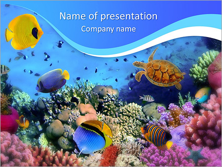 ocean life powerpoint template backgrounds google slides id