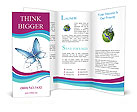 Water Butterfly Brochure Templates