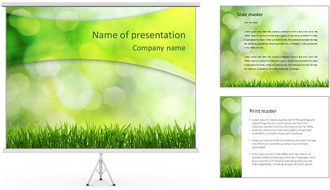 L'herbe verte fraîche Modèles des présentations  PowerPoint