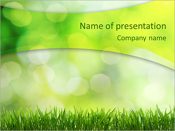 Fresh Green Grass PowerPoint presentationsmallar