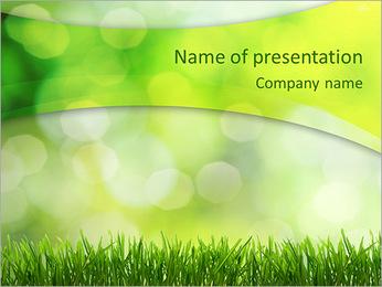 L'herbe verte fraîche Modèles des présentations  PowerPoint - Diapositives 1