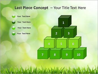 L'herbe verte fraîche Modèles des présentations  PowerPoint - Diapositives 11