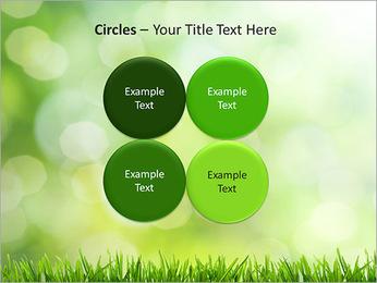 L'herbe verte fraîche Modèles des présentations  PowerPoint - Diapositives 18