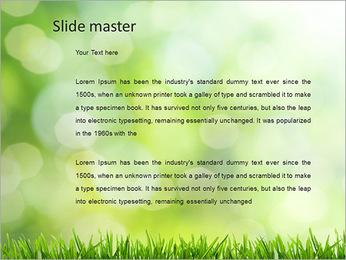 L'herbe verte fraîche Modèles des présentations  PowerPoint - Diapositives 2