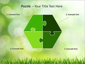 L'herbe verte fraîche Modèles des présentations  PowerPoint - Diapositives 20