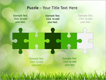 L'herbe verte fraîche Modèles des présentations  PowerPoint - Diapositives 21