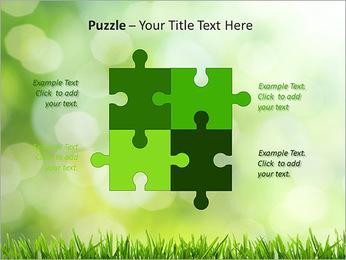 L'herbe verte fraîche Modèles des présentations  PowerPoint - Diapositives 23