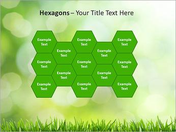 L'herbe verte fraîche Modèles des présentations  PowerPoint - Diapositives 24