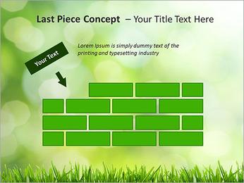 L'herbe verte fraîche Modèles des présentations  PowerPoint - Diapositives 26