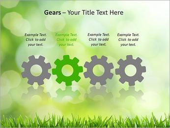 L'herbe verte fraîche Modèles des présentations  PowerPoint - Diapositives 28