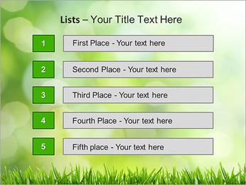 L'herbe verte fraîche Modèles des présentations  PowerPoint - Diapositives 3