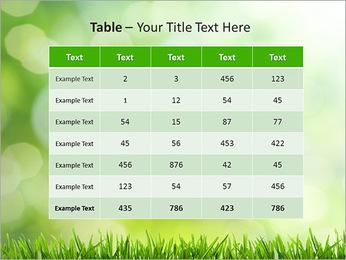 L'herbe verte fraîche Modèles des présentations  PowerPoint - Diapositives 35