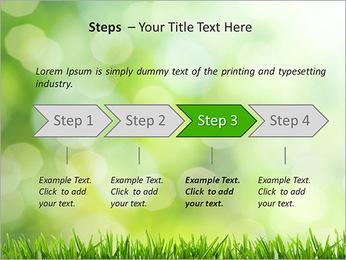 L'herbe verte fraîche Modèles des présentations  PowerPoint - Diapositives 4