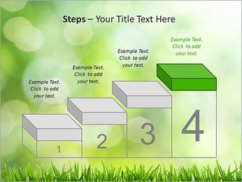 L'herbe verte fraîche Modèles des présentations  PowerPoint - Diapositives 44