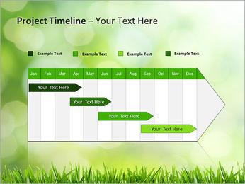 L'herbe verte fraîche Modèles des présentations  PowerPoint - Diapositives 5