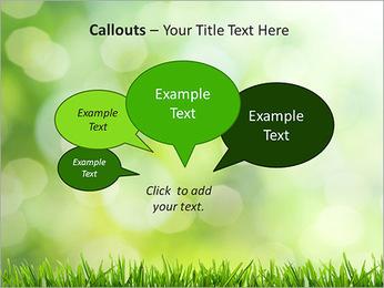 L'herbe verte fraîche Modèles des présentations  PowerPoint - Diapositives 53