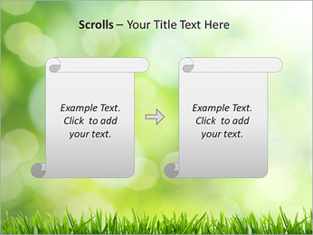 L'herbe verte fraîche Modèles des présentations  PowerPoint - Diapositives 54