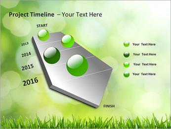 L'herbe verte fraîche Modèles des présentations  PowerPoint - Diapositives 6