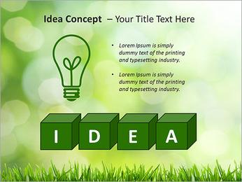 L'herbe verte fraîche Modèles des présentations  PowerPoint - Diapositives 60