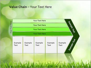 L'herbe verte fraîche Modèles des présentations  PowerPoint - Diapositives 7