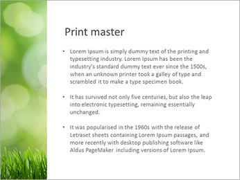 L'herbe verte fraîche Modèles des présentations  PowerPoint - Diapositives 76