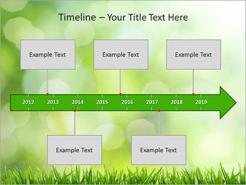 L'herbe verte fraîche Modèles des présentations  PowerPoint - Diapositives 8