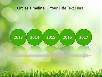 L'herbe verte fraîche Modèles des présentations  PowerPoint - Diapositives 9