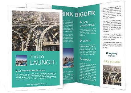 Roads In Big City Brochure Template Design ID - Informational brochure template