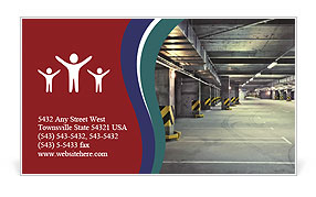 Parking Area Business Card Template