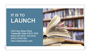 Book From Library Business Card Templates