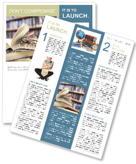 book from library newsletter template design id 0000004932