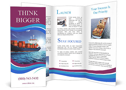Cargo Ship Brochure Template  Design Id