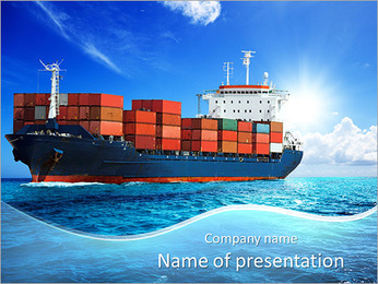 Cargo Ship PowerPoint Template
