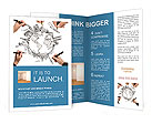 Drawing Well-Known Sightseings Brochure Template