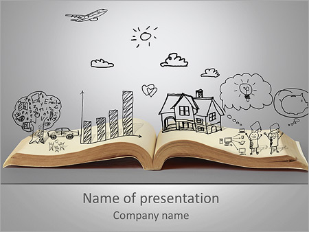 opened book powerpoint template backgrounds google slides id