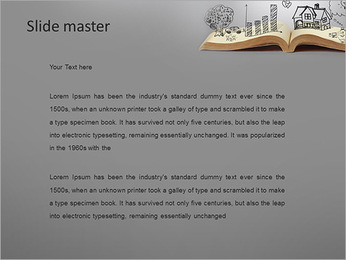 Opened Book PowerPoint Template