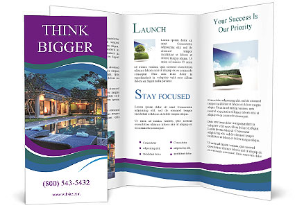 luxury brochure template - luxury resort brochure template design id 0000004937